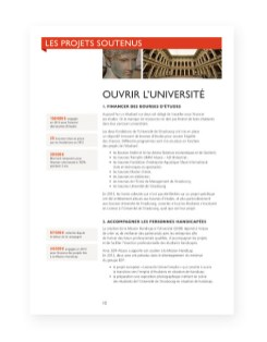 Rapport 2012 Fondation Universite Strasbourg - 7