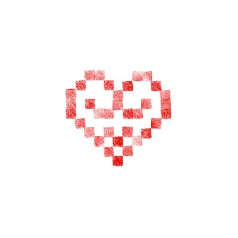Cœur brodé 10
