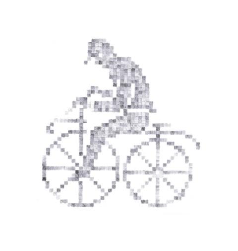 Motif cycliste brodé