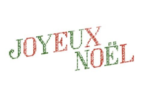 Joyeux Noël Lettres brodées