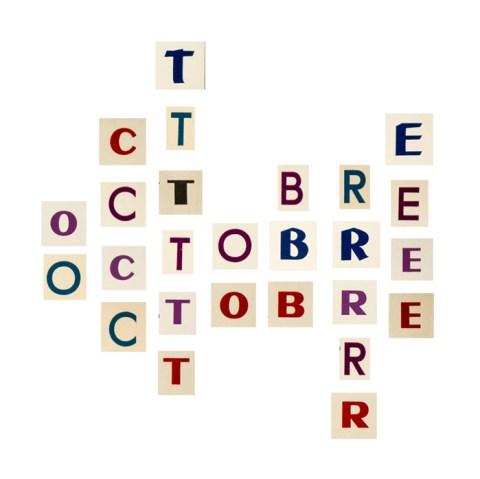 Montage typographique Octobre