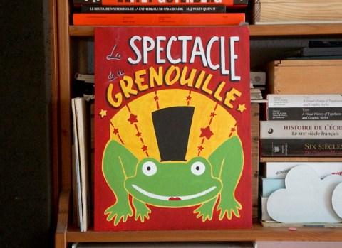 affiche spectacle grenouille peinture en lettres