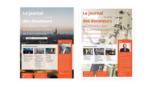 Journal Donateur Fondation Université Strasbourg