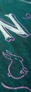 Lettres peintes