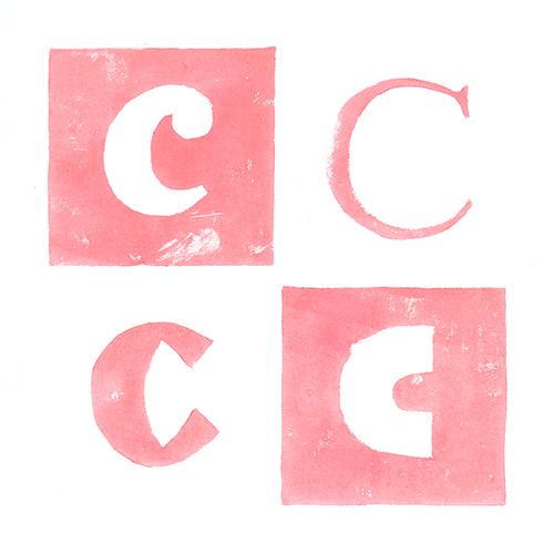 Lettre C Gravure sur bois