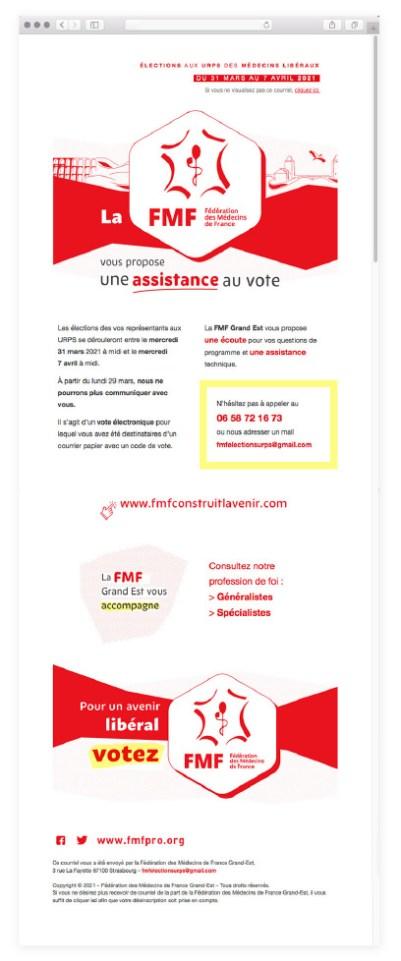 Mailing pour la Fédération des Médecins de France Grand Est