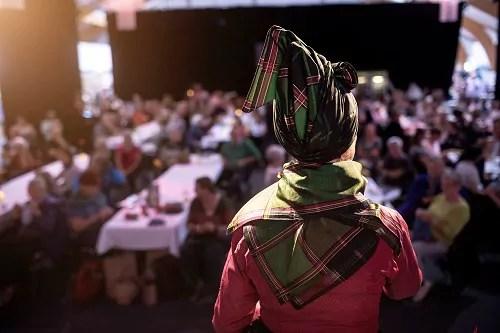 Vorträge beim Strickfestival