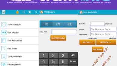 indian rail train info app