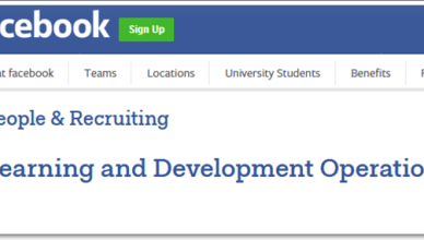 Facebook Learning and Development Operations Lead