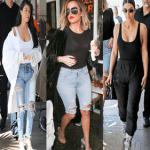 Kim, Khloe & Kourtney Kardashian Have Girl's Lunch Together