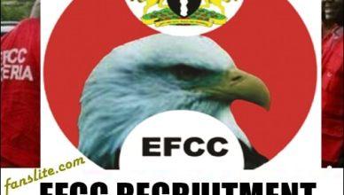 Economic and Financial Crimes Commission Recruitment form 2021