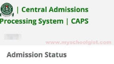 JAMB CAPS: See How to Accept/Reject Admission Offer