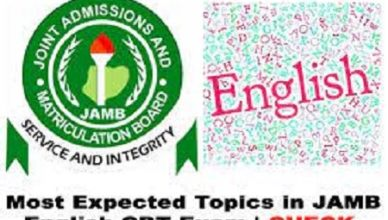 JAMB Use of English Questions - Check Repeated Questions Online.