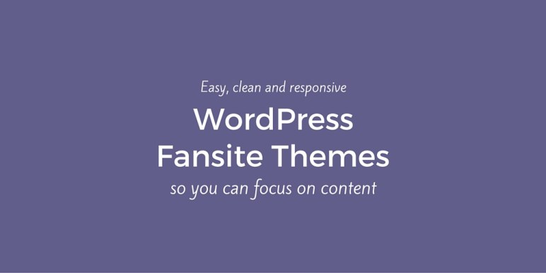 WordPress Fansite Themes