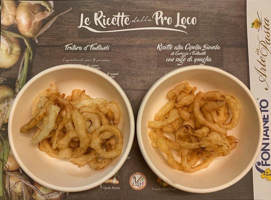 Cipolla bionda di Cureggio e Fontaneto in pastella