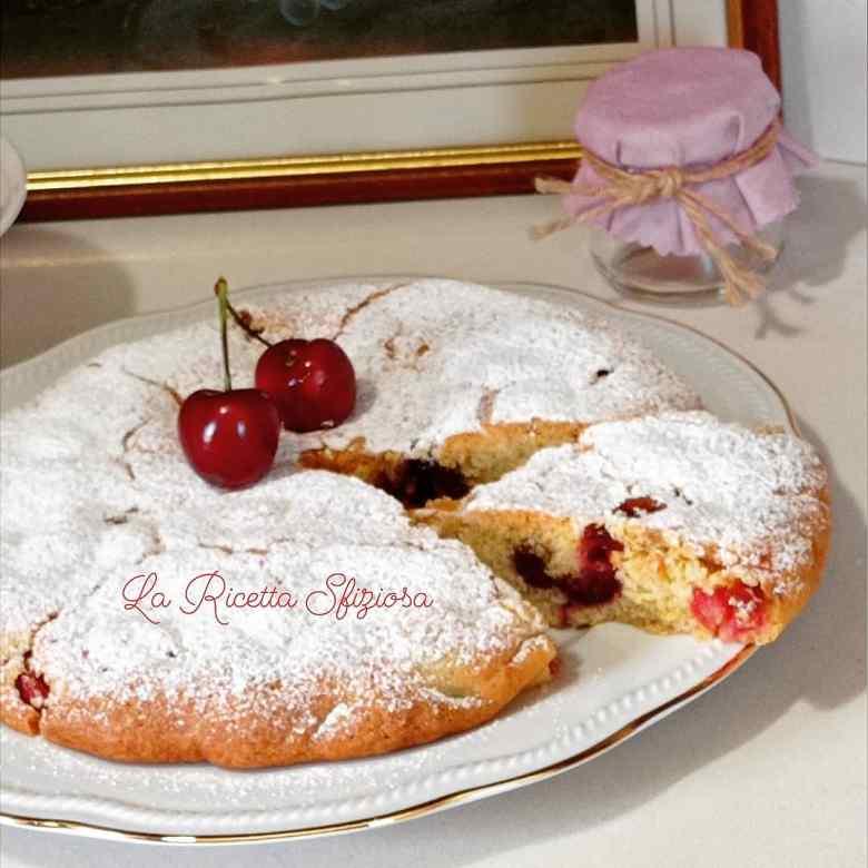 Crostata cookie alle ciliegie