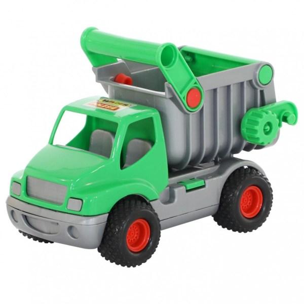 Самосвал КонсТрак зелёный в коробке для детей от 1 года ...