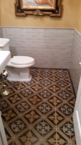 Fantasia Tile & Remodeling - North Raleigh Powder Room Renovation