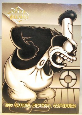 Pegleg Pete Disney Villains 2 Sided Card From Our Other
