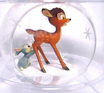 Bambi Amp Thumper On Ice Crystal Ball Ornament From Our