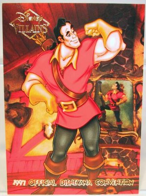 Gaston Disney Villains 2 Sided Card From Our Other
