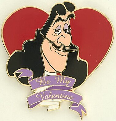 Captain Hook Be My Valentine St Valentines Day Pin From