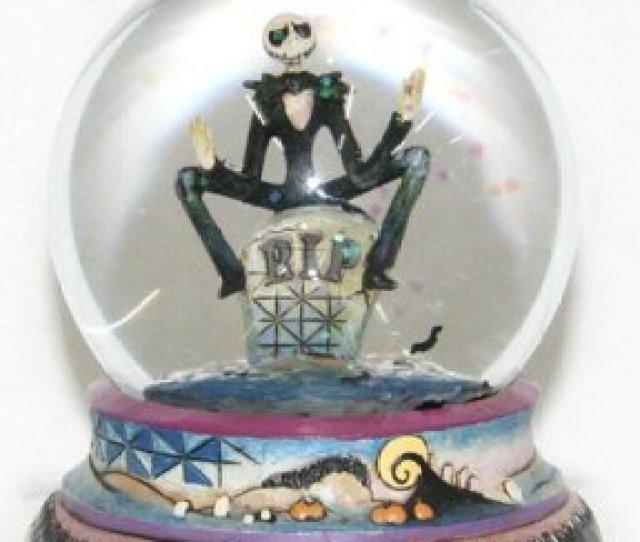 Halloween Jack Skellington Waterball Jim Shore Disney Traditions