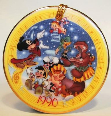 1990 Fantasia Christmas Medallion Ornament From Our Fast
