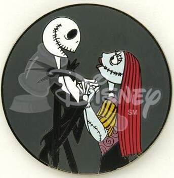 Jack Skellington And Sally Facing Each Other In Profile