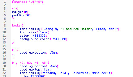 """CSS file for the """"BlueWhite Clean"""" version for the page."""