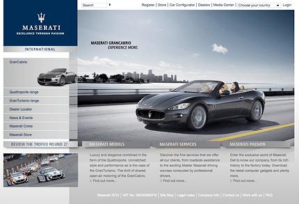 The Maserati Web Site