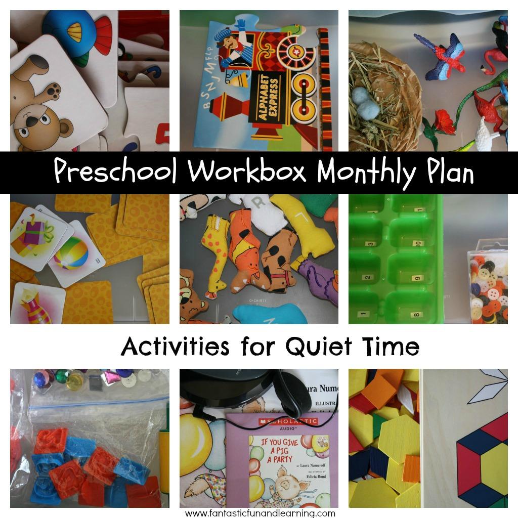 Preschool Workbox Monthly Plan Amp Activities For Quiet Time