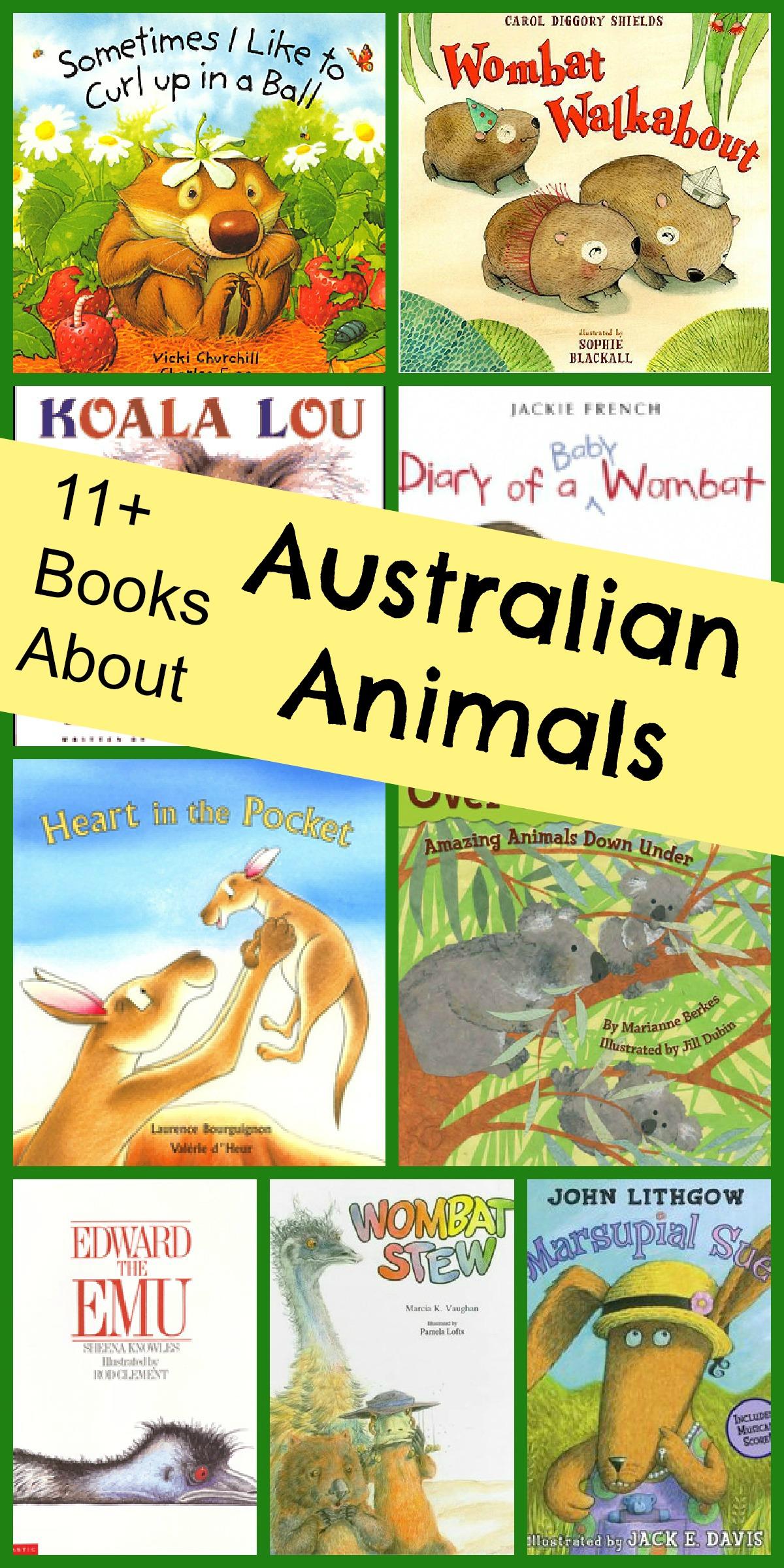 Animals Of Australia Book List