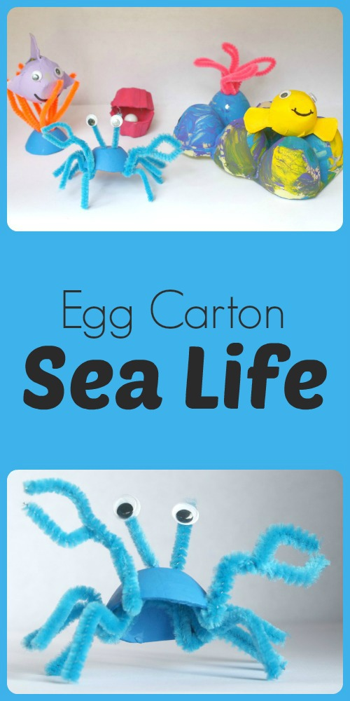 Egg Carton Sea Life