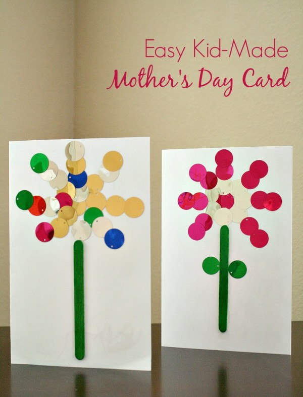 Easy Mother's Day Card Kids Can Make - Fantastic Fun ...