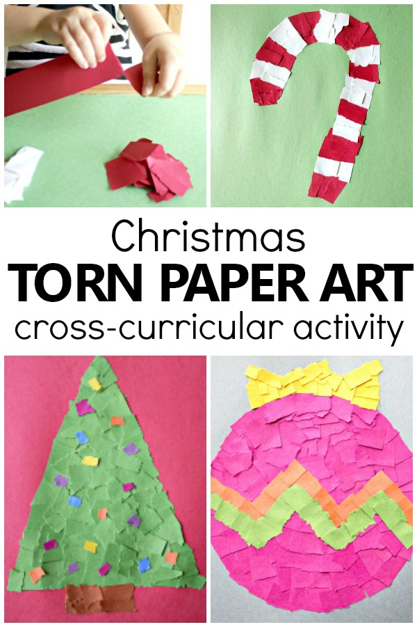 Have a bored teenager at home? Torn Paper Christmas Crafts For Kids Fantastic Fun Learning