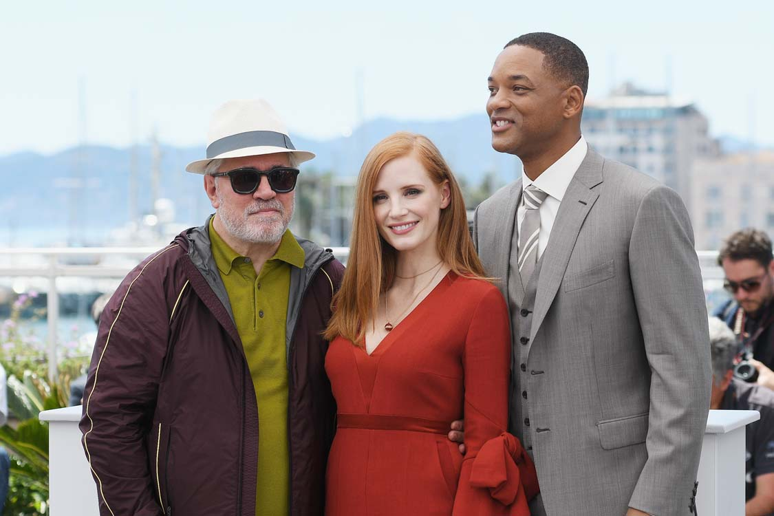 Pedro Almodóvar, Jessica Chastain y Will Smith @ Cannes 2017