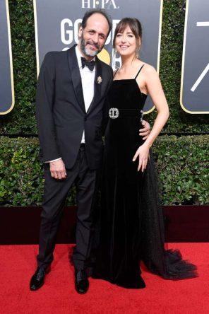 Luca Guadagnino y Dakota Johnson (Gucci)