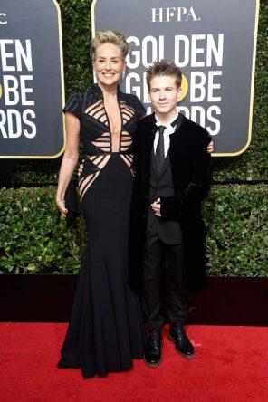 Sharon Stone y su hijo Roan Joseph Bronstein