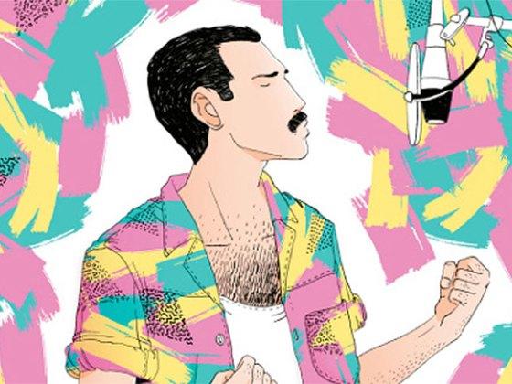 """""""Freddie Mercury"""" de Alfonso Casas"""