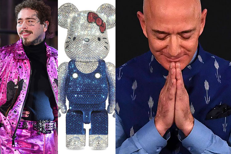 DOWN: Post Malone, BE@ARBICK, Hello Kitty, Jeff Bezos...