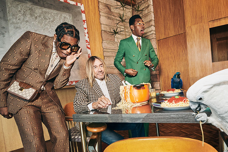 Iggy Pop, A$AP Rocky y Tyler, The Creator para Gucci