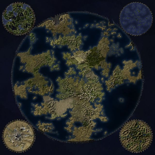 A map of a fantasy world on a cog