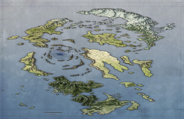 A free fantasy world map