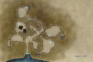 Free dungeon map without labels for game