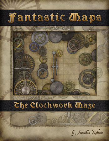 Fantasy Map Pack for sale: The Clockwork Maze