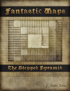 Fantasy map pack cover - the stepped pyramid