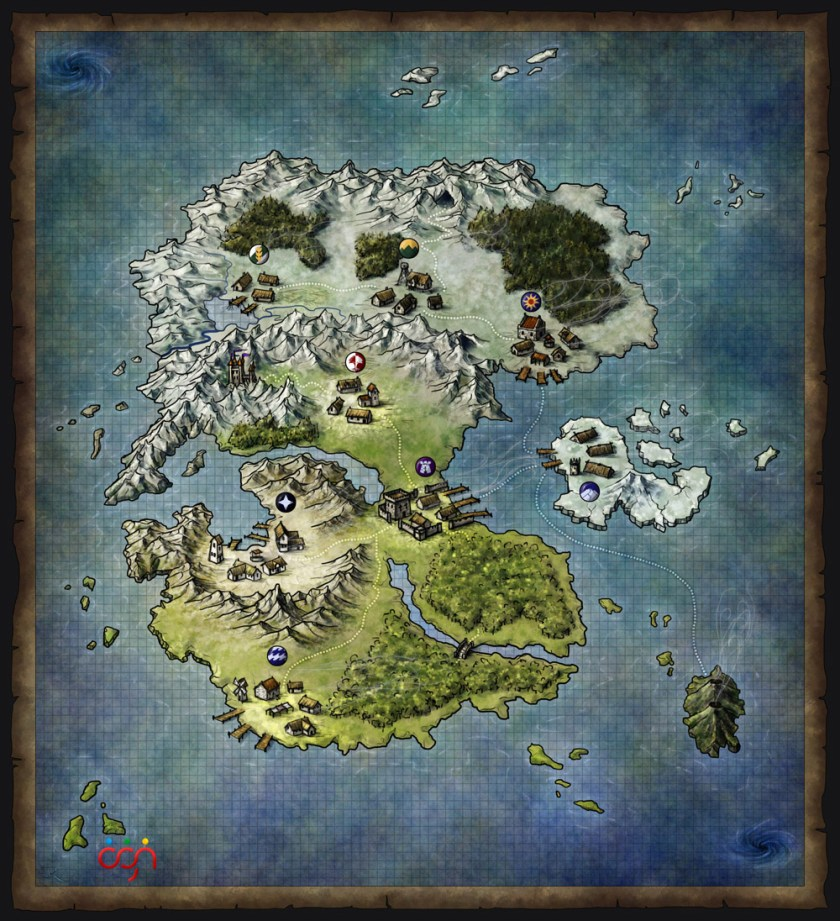 World map for the dark warriors online rpg fantastic maps world map for the dark warriors online rpg gumiabroncs Images