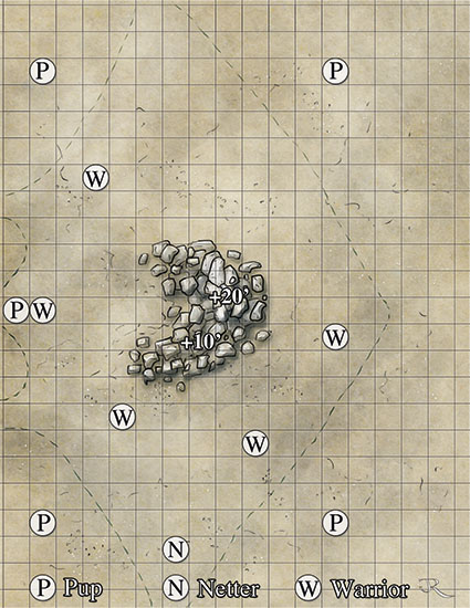 Sky ray fantasy battlemap for IDW's Ianto's Tomb adventure for the Dark Sun Comic