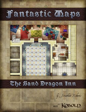 Fantasy battlemap map pack of the Sand Dragon Inn for Dungeons and Dragons, 4e and pathfinder